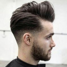 Men's Hair, Haircuts, Fade Haircuts, short, medium, long, buzzed, side part, long top, short sides, hair style, hairstyle, haircut, hair color, slick back, men's hair trends, disconnected, undercut, pompadour, quaff, shaved, hard part, high and tight, Mohawk, trends, nape shaved, hair art, comb over, faux hawk, high fade, retro, vintage, skull fade, spiky, slick, crew cut, zero fade, pomp, ivy league, bald fade, razor, spike, barber, bowl cut, 1960, hair trend 2015, men, women, girl, boy Short Sides Haircut, Side Haircut, Low Fade Haircut, Short Hair Cuts, Short Hair Styles, Widows Peak Hairstyles, Hairstyles Haircuts, Haircuts For Men, Medium Hairstyles