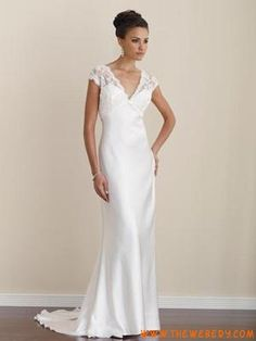 Fresh Lace Sleeves Wedding Dress Classic Design Will Never Bee Obsolete