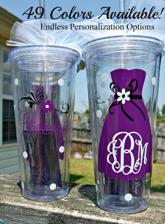 Bridal Party Wedding Tumbler  Personalized by lyricalletters, $16.00