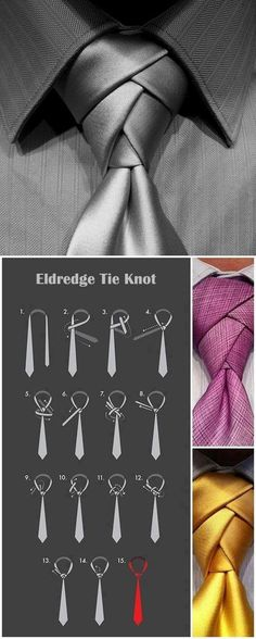 Love tying a tie for a man.... New way.....someone put a suit on!