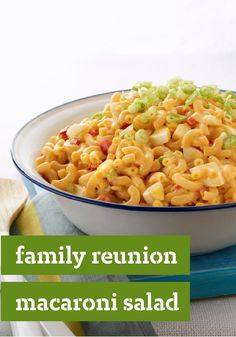 Family Reunion Macaroni Salad — Family gathering? With hard-cooked eggs, celery, and your secret ingredient (Miracle Whip Dressing), golden-child status is yours.