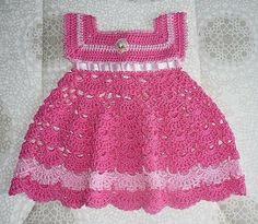 DE MIS MANOS TEJIDOS Y MAS...: Lindos vestidos para nenas a crochet