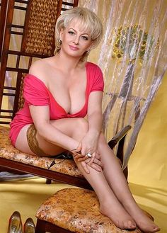 Mature woman nylons