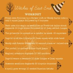 #witches of east end workout #don't sit through a tv episode