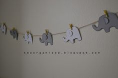 DIY elephant garland for the nursery