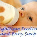 nighttime feeding and baby sleep