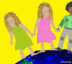 #Zwillinge - Aus dem Kinderbuch 'Bunt, gleich und anders ... wie Du und ich' - ISBN Nr. 978-3-7386-0260-9  Illustration: Elisabeth Diaab www.diaab.de