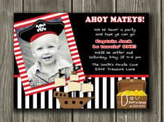Who can create this for me?! I love having my kids pics on their invites.
