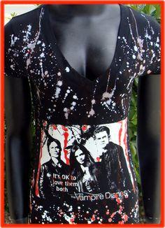 The Vampire Diaries Top CW Stefan Damon Elena You choose the size. $22.00, via Etsy.
