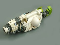 """https://flic.kr/p/7Nwbyh   """"Spark"""" Class Carrier   A reedition of my old Light battle carrier: www.mocpages.com/moc.php/22845  I wanted to use the few lime parts i own."""