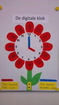 Digitale klok, tijd, in mijn klas, groep 5