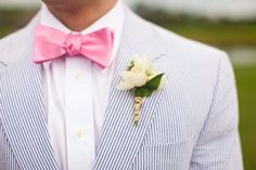 10 southern wedding traditions to love. and yes, seersucker is one of them. Perfect Wedding, Dream Wedding, Wedding Day, April Wedding, Wedding Shit, Seersucker Wedding, Seersucker Jacket, Bow Tie Suit, Preppy Southern