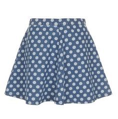 A Girl's Best Friend: 6pm and Top Shop Shopping Spree how cute is this polkadot denim skirt!