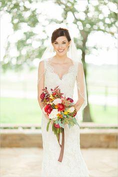romantic bridal looks #bride #bridalportraits #weddingchicks http://www.weddingchicks.com/2014/02/25/rustic-ritzy-ranch-wedding/