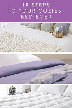 How to make the coziest bed ever  in 10 easy steps. Try it this weekend as a fun DIY project.