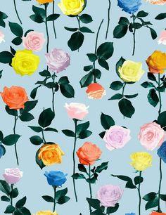 Imagen de wallpaper, flowers, and pattern Surface Pattern Design, Pattern Art, Photo Pattern, Motif Floral, Floral Prints, Pretty Patterns, Pattern Illustration, Textile Patterns, Textiles