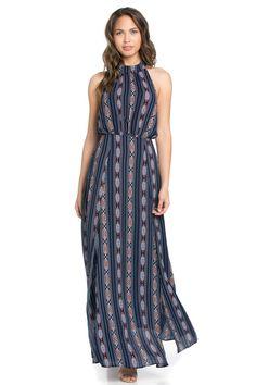 Blue Print Maxi Dress
