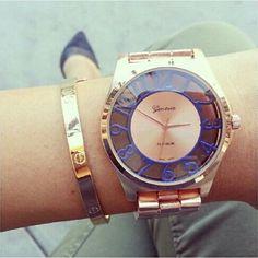 Cheap Mujeres de moda de relojes de ginebra número de ver a través de reloj del movimiento de japón reloj de cuarzo damas, Compro Calidad Relojes de moda directamente de los surtidores de China:        Moda de la mujer relojes ginebra número de color Opacidad reloj de Japón movimiento de cuarzo reloj de señoras
