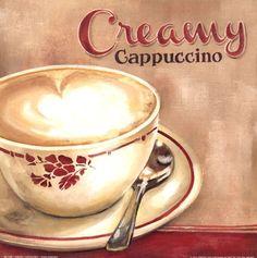 Creamy Cappuccino by Elisa Raimodi art print Cappuccino Art, Coffee Latte Art, Cappuccino Machine, I Love Coffee, Best Coffee, Coffee Time, Decaf Coffee, Drink Coffee, Coffee Break
