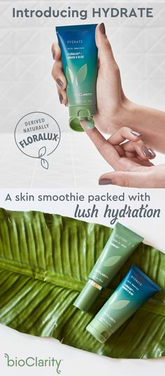 Come and get Hydrate! It's a skin smoothie, our newest and most indulgent soak packed with soothing nutrients and lush with moisture. Powered by Floralux and naturally-derived plant extracts designed for even the most sensitive skin. Treat yourself to you