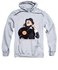 Dj Sweatshirt featuring the photograph Woman Disc Jockey by Jorgo Photography - Wall Art Gallery