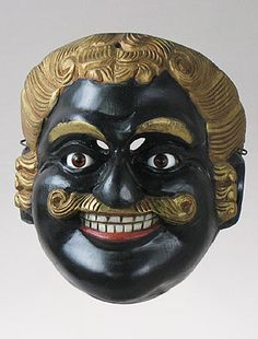 Negrito mask made in Guatemala, Dance of Mexicans