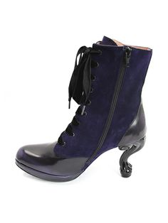 Victoria (Purple Suede & Purple Rub-off): OMG look at the heels on these!!