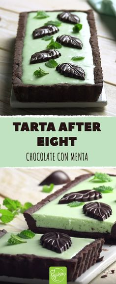 TARTA AFTER EIGHT #especial #menta #chocolate #tarta #pastel #dulce #crema #aftereight #riquisimo