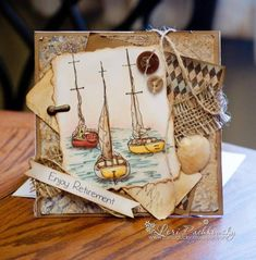 Ideas Birthday Images For Men Masculine Cards Paper Crafts Birthday Images For Men, Card Creator, Nautical Cards, Retirement Cards, Boy Cards, Pretty Cards, Masculine Cards, Card Tags, Homemade Cards