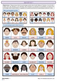 "French game of ""Who is it"" Also good pictures to teach family relationship words. French Teaching Resources, English Activities, Teaching French, Teaching English, French Lessons, English Lessons, English Class, Diy With Kids, French Adjectives"
