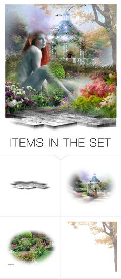 """""""flower garden"""" by lazer-blade ❤ liked on Polyvore featuring art"""