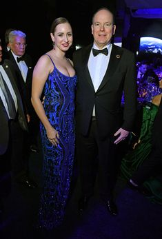 Jazmin Grace Grimaldi and Prince Albert II of Monaco attends 2020 Hollywood For The Global Ocean Gala Honoring HSH Prince Albert II Of Monaco at Palazzo di Amore on February 2020 in Beverly Hills, California. (Photo by George Pimentel/WireImage) Jazmin Grace Grimaldi, Prince Albert Of Monaco, Big Blue Eyes, Monaco Royal Family, Charlene Of Monaco, Princess Charlene, Royal Prince, Night Out, Daughter