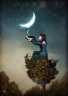 "There is absolutely nothing about the phrase 'easier said than done' that is an absolute law of creation. It's you that is giving it solidity by believing in that idea. You're the one giving it form."" Bashar ❤️☀️""Moondrops"" by Christian Schloe"