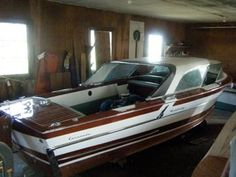 Pictures of  1957 Century Coronado hard top boat and trailer