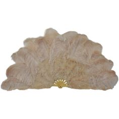 "27""x 53"" Light Camel Marabou & Ostrich Feathers Hand Fan With Bamboo... (135 CAD) ❤ liked on Polyvore featuring home, home decor, accessories, fan, filler and bamboo home decor"