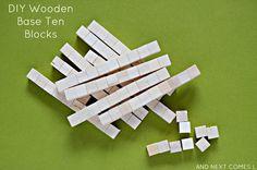 Make your own (DIY) wooden blocks - base ten blocks.