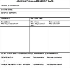 1000+ images about FBA Board on Pinterest | Assessment, Functional ...