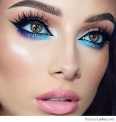 Galaxy eye makeup for brown eyes