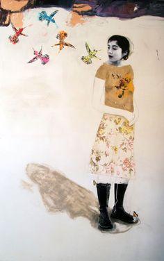 lespapierscolles....   Dominique Fortin #painting #couleur #illustration #graphisme #art