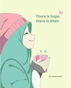 #hijab #hijabart #zoemoon #illustration Islamic Images, Islamic Pictures, Islam Beliefs, Islam Religion, Muslim Pictures, Hijab Drawing, Teddy Bear Pictures, Islamic Cartoon, Anime Muslim