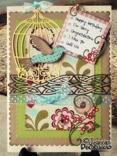 I know why the caged bird is singing on this card! Did you get my reference to the famous book? #cheeryld #polkacabana Dies used: Hummingbird - B193; Bird Cage - B198; Celtic Whimsy - B203; Card Maker Rectangle Scalloped - CM-2; Mini Fanciful Flourish - B117S http://www.cheerylynndesigns.com