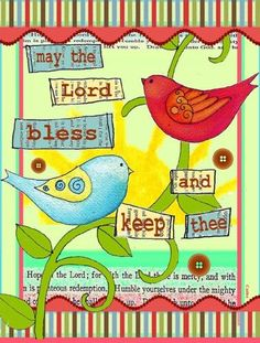 May the Lord Bless You and Keep You Inspirational Flag Garden Size PJC1054GF, Multi