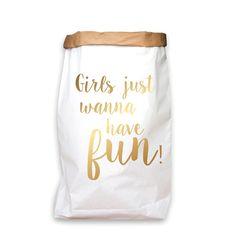 paperbag goud girls