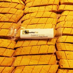 Wholesale Pack - Gluten Free Pumpkin and Flax Seed Biscotti- 72 Pieces – Healthy Pup