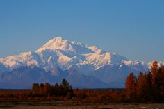 Denali 20,320 ft. elevation/Rebecca Tifft/Sept. 16, 2010/ Taken from train that travels from Anchorage to Denali.