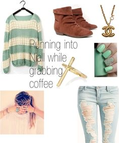 """""""Running into Niall As Your Grabbing Coffe *Your his soon-to-be Girlfriend"""" by one-direction-outfits1 ❤ liked on Polyvore"""