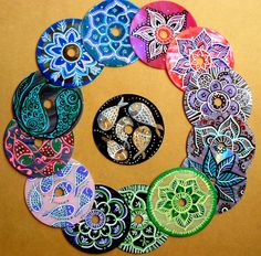 mandalas con cd reciclados - Pesquisa Google
