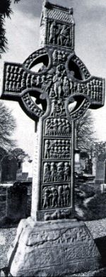 ►CELTIC ART: Early Medieval ► Muiredach's Cross East Face Type of object: Sculpture  Material: stone  Period: Early Medieval, Celtic  Country: Ireland  Date: c.800  Collection: Monasterboice, Co. Louth
