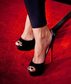 Jayde Nicole in Christian Louboutin - Women's Passion for Designer . Sexy Legs And Heels, Hot High Heels, High Heel Boots, Shoe Boots, Peep Toe Heels, Stiletto Heels, Talons Sexy, Christian Louboutin, Gorgeous Heels