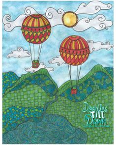 hotairballoons...Dawn Robertson....The Art Colony